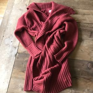 A new day rust colored cardigan size medium